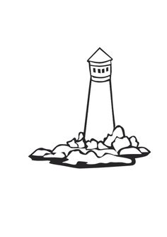 Lighthouse activity: Lost at sea on a stormy night and a glimmer of light leads you to land.  What are the lights in your life that are your lighthouse?  Family, friends, faith?  Finish the picture and draw or write the things that guide you to safety.