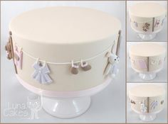 Gorgeous baby shower cake! Possibility for gender reveal cake.