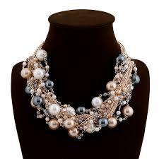 Image result for collares de moda 2014 de perlas de colores