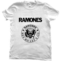 T Shirt Music Ramones Hey Who Let's Go Swag Punk Rock (43 BRL) ❤ liked on Polyvore featuring tops, t-shirts, shirts, black, women's clothing, punk rock tees, punk shirts, t shirt, punk tees and punk rock shirts