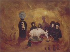 Aardvark Fed by Widows by Leonora Carrington