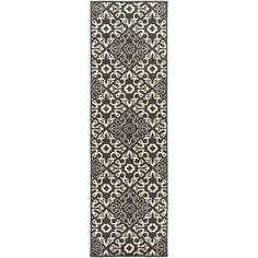 Surya Alfresco Black/Beige Indoor/Outdoor Area Rug Rug size: 6' x 9'