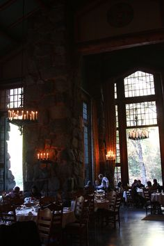 The restaurant at the Awahanee: Travelogue: Weekend in Yosemite Valley - Hither and Thither