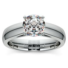 Cathedral Solitaire Engagement Ring in White Gold (4mm) http://www.brilliance.com/engagement-rings/cathedral-solitaire-ring-white-gold-4mm