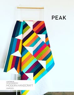 The Peak Quilt is the third quilt in my solid series, designs focused on solid fabrics and negative space. This quilt is perfect for both beginner quilters and those who love a minimalist look. …