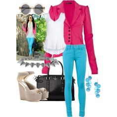 love colored skinny jeans