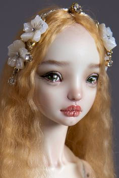 Marina Bychkova, Russian born Canadian based figurative artist and founder of Enchanted Doll™ (luxury toy label of exquisite, porcelain dolls) Bjd Dolls, Barbie Dolls, Anime Dolls, Toy Labels, Marina Bychkova, Enchanted Doll, Dream Doll, Polymer Clay Dolls, Doll Maker