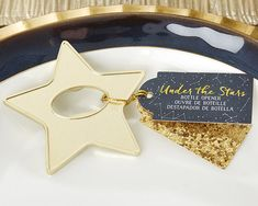 Kate Aspen's star-shaped bottle opener favors will be the star of the show at your party! Add a touch of class to wedding reception guest tables or the birthday party favor table with these gold-adorned beauties, or hand out these gold star bottle open Wedding Favors Unlimited, Wedding Gifts For Guests, Wedding Favor Boxes, Wedding Favors For Guests, Wedding Ideas, Diy Wedding, Dream Wedding, Handmade Wedding, Wedding Themes