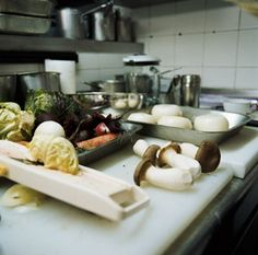 Inside the kitchens in L'Arpege in France