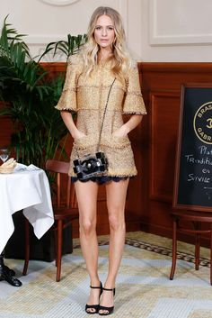 Poppy Delevingne at Chanel Fall 2015 Ready-to-Wear - Front-row - Gallery - Style.com