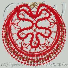 Lace Heart, Lace Jewelry, Bobbin Lace, Lace Detail, Christmas Ideas, Butterfly, Knitting, Navidad, Bobbin Lace Patterns