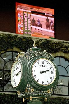 Lexington Kentucky - Keeneland Race Track Clock & Live Screen