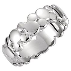 Mickey Mouse Icon Ring   Disney Store Mickey puts his head together and comes up with this contemporary styled ring. Part of the Disney Dream Collection, this band of alternating Mickey icons is available in a choice of gold and sterling silver so Mickey will always be on hand.