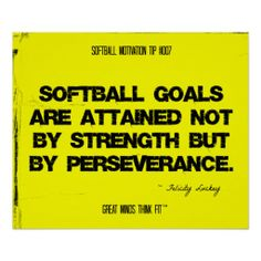 A series of powerful softball quotes for players, coaches and team motivation from Great Minds Think Fit, with softball motivational posters and quotes collages for inspiration and success. Softball Players, Girls Softball, Fastpitch Softball, Lacrosse, Softball Stuff, Softball Cheers, Softball Crafts, Softball Pitching, Softball Shirts