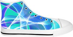 Waves Aqua White Soled High Tops by Terrella available at https://www.rageon.com/products/waves-aqua-7?aff=BSDc on RageOn!