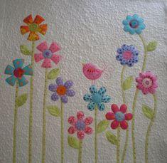 great flowers applique