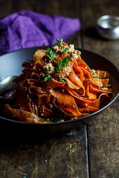 Harissa carrot salad with Feta from Simpy Delicious, a variation on the recipe by Smitten Kitchen