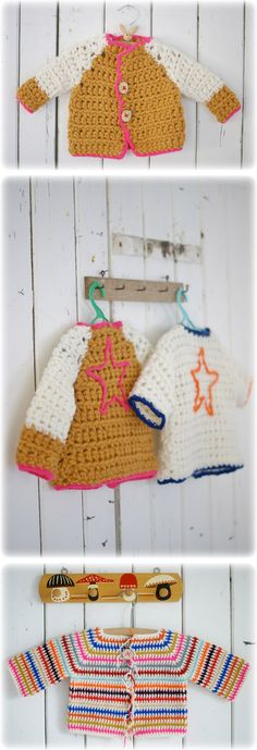 Wood & Wool Wee Wear Hand Knitted Baby Cardigans