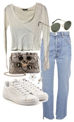 """Untitled #21938"" by florencia95 ❤ liked on Polyvore featuring Vetements, Brandy Melville, H&M, J.W. Anderson, adidas and Poporcelain"