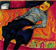 Liegendes Madchen, 1910, Max Pechstein