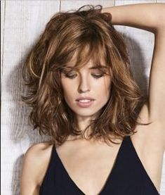 Long Bob Hairstyles For Thick Hair, Hairstyles Over 50, Brown Hairstyles, Trendy Hairstyles, Layered Hairstyles, Hairstyles Haircuts, Medium Length Hair With Layers, Medium Brown Hair, Mid Length Hair Styles For Women Over 50