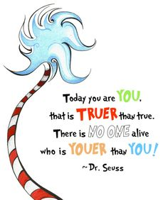 Happy Birthday to you, Dr. Seuss! I am very aware that there are probably about 5,000,000,000,000,000,000+ other blogs posting about Dr. Seuss today. Without doubt, he is that awesome of a writer, artist and person. But that's not why I am dedicating this post to Dr. Seuss. When it comes to books, I have the visual attention span of a little kid. Exaggerated scales, bright colors, simple shapes and silly, made-up words. That's it. I don't want complicated, hidden meanin...