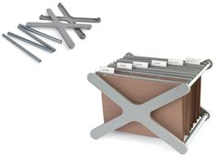 XX  1998  Desktop Filing System. Moulded polypropylene and anodised aluminium spacers.