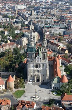 Zagreb, Croatia, had to pin this. My father grew up here.