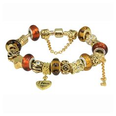 love charm bead bracelelt
