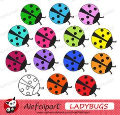 FREE!!! Rainbow Ladybugs Digital Clipart Creative Clips from Alefclipart on TeachersNotebook.com - (15 pages) - FREE!!! Rainbow Ladybugs Digital Clipart Creative Clips