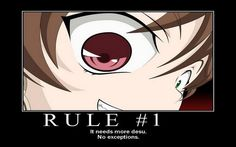 Rule It need more desu Rule 41, Desu Desu, Rules And Laws, Anime Motivational Posters, Anime Rules, Demotivational Posters, Image Boards, Manga, Manga Anime