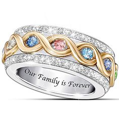 Women's Ring: Family Is Forever Personalized Ring Jewelry