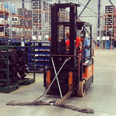 Well ... you know the Toyota forklift will be efficient at it