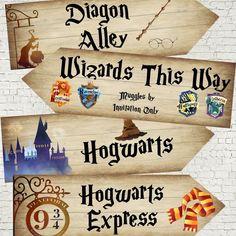 4 Harry Potter Hogwarts Wizards Party Decoration Arrow Signs for sale Harry Potter 6, Harry Potter Fiesta, Harry Potter Bedroom, Harry Potter Baby Shower, Harry Potter Halloween, Harry Potter Wedding, Harry Potter Christmas, Harry Potter Birthday, Harry Potter Parties