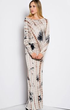 Playing In the Leaves Tie-Dye Maxi Dress