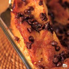 Gâteau de pain perdu orange pépites de chocolat