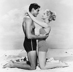 Change of attire: Shown here with George Hamilton, Dolores Hart starred in the 1960 film Where The Boys Are Hart Images, Hart Pictures, Dolores Hart, George Hamilton, 10 Film, Movie Couples, Old Hollywood Glamour, Elvis Presley, Black And White Photography