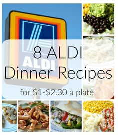 Are you searching for affordable dinner recipes? Try these 8 ALDI dinner recipes for under $2.30 that are cheap but still delicious.