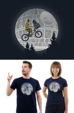 7703239bb Star Wars - ET Bicycle Scene Mashup