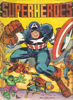 Álbum de cromos, Superheroes, publicado en 1980 por Fher