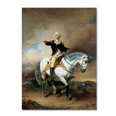 John Faed 'Portrait of George Washington' Art
