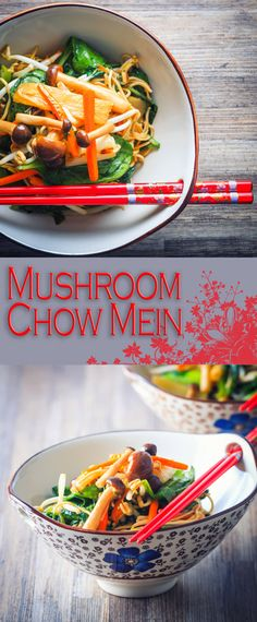 Mushroom Chow Mein Recipe: My Mushroom Chow Mein as my take on the takeaway legend and being ready in 20 minutes means it is much quicker than delivery.