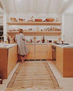 Blonde wood kitchen