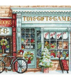 Dimensions Gold Counted Cross Stitch Kit Petite Toy Shoppe, , hi-res