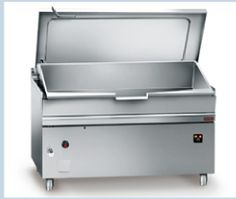 With compound steel bottom-15 mm, Manual Tilting, With filling faucet, lid with condensate gutter.
