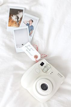 a polaroid mini camera is a cute way to welcome guests for the holidays