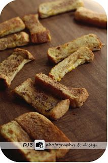 My Place in this World: Freezer French Toast Sticks. Used light brown sugar in lieu of cinnamon. Delicious.