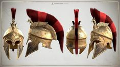 Assassin´s Creed Odyssey - Casco de Mercenario Spartan Helmet, Spartan Warrior, Assassins Creed Art, Assassins Creed Odyssey, Ancient Greek Art, Ancient Greece, Armor Concept, Concept Art, Greek Helmet