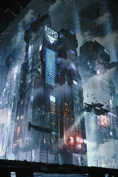 List of attractive Architecture futuristic concept art ideas and photos Cyberpunk City, Ville Cyberpunk, Cyberpunk Kunst, Cyberpunk Aesthetic, Futuristic City, Futuristic Architecture, Sci Fi City, Sci Fi Environment, Fantasy City