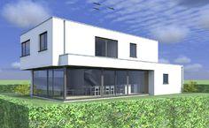 Villa design à Messancy, vue arrière. Autres photos dispo sur www.dwelling.be